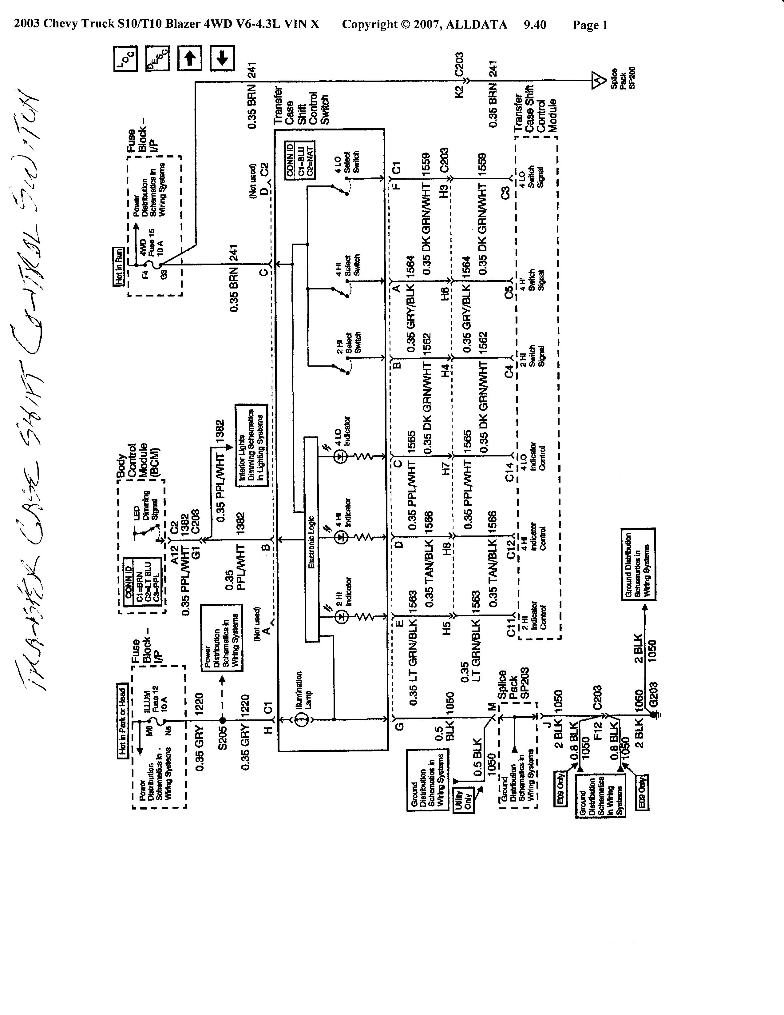 1984 Chevy Silverado Wiring Diagram Control K5 Blazer 2001 S10 4x4 4wd Unit Not Working Tech Support Forum 84 C10 Ignition Headlight